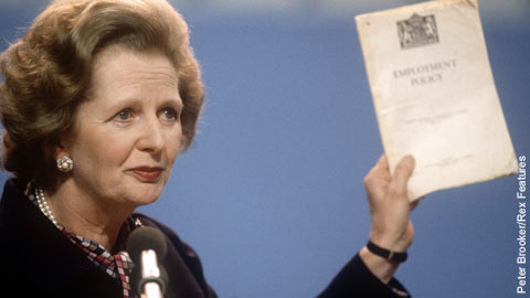 The impact of Margaret Thatcher's Government on the workplace