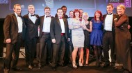 The Direct Line team collect their first award of the night