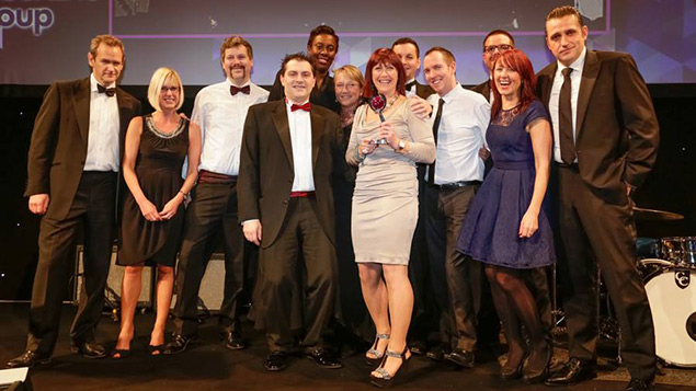 Direct Line collect their Personnel Today Award in 2013.