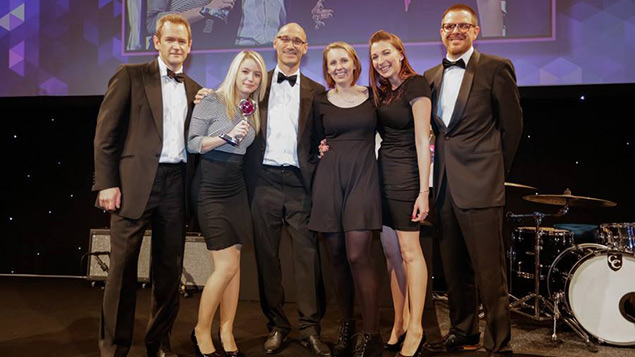 Random House collect their award for Health at Work at the Personnel Today Awards 2013.