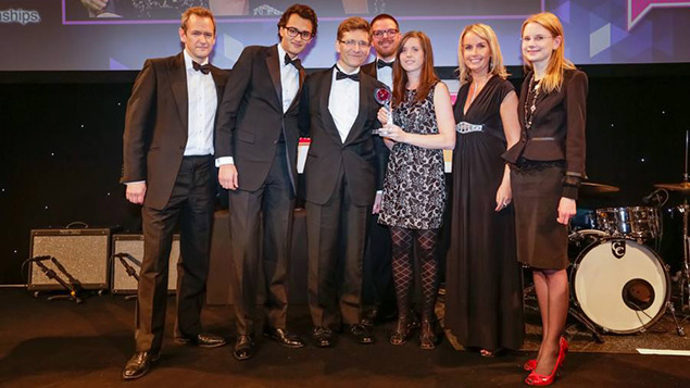 Reed Smith collecting their award in 2013
