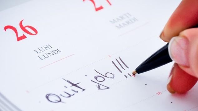 Deciding on a resignation date