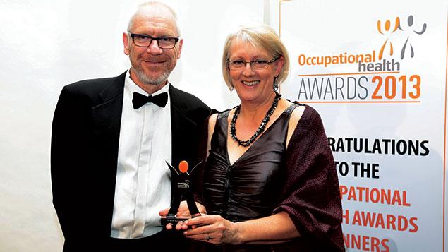 Susan Gorton with Occupational Health editor Noel O'Reilly