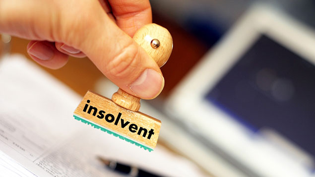 Insolvent stamp