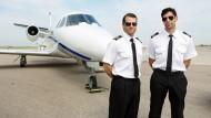 Two male pilots