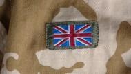 British flag on camo