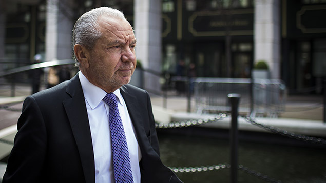 Lord Sugar lost his bid to recover legal costs from former Apprentice winner Stella English after she lost a contructive dismissal claim against him. Photo: REX
