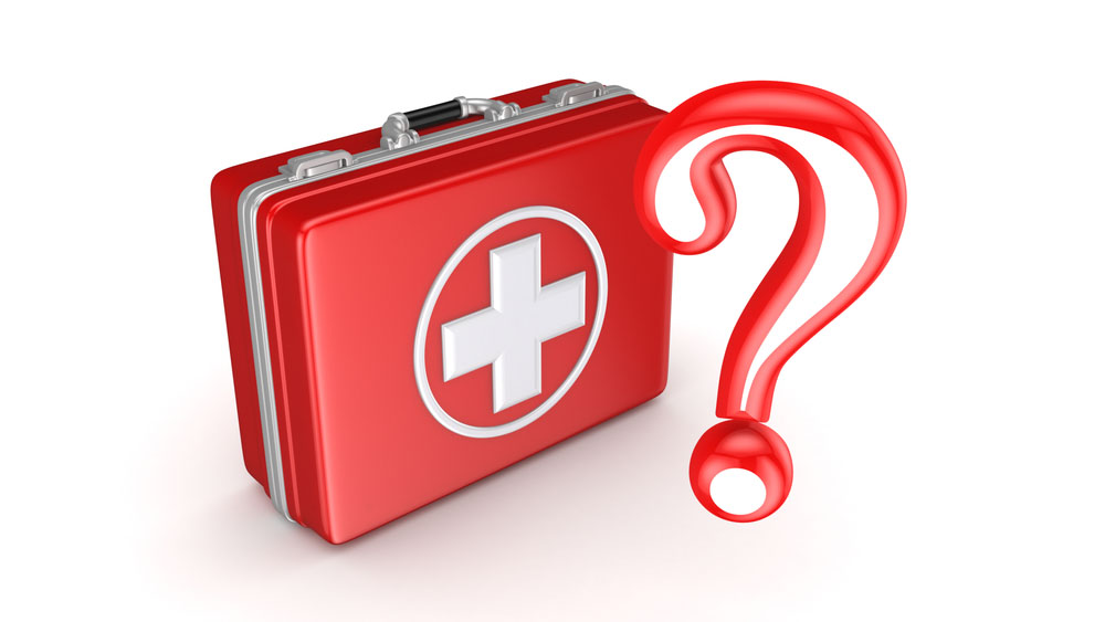 first-aid question mark