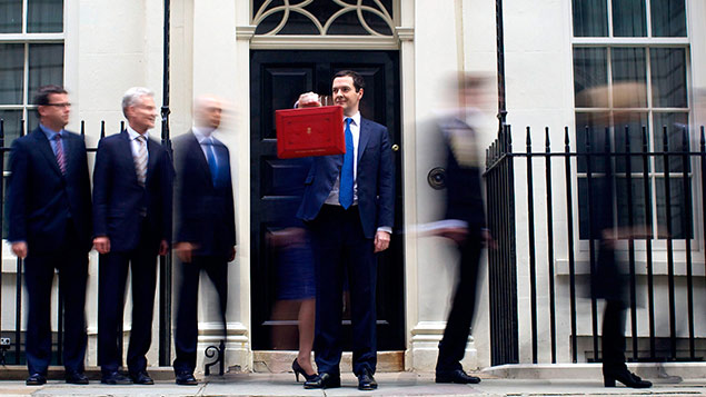 Budget 2014: Chancellor of the Exchequer George Osborne and ministers