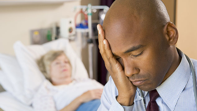 Stressed hospital consultant