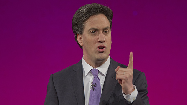 Ed Miliband will announce Labour's plans to tackle exploitation of zero hours contracts. REX/Andrew Price
