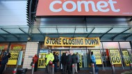Customers on the last day of trading at the Comet at the Tottenham Hale Retail Park Store