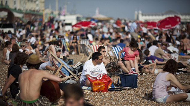 One in nine admitted pulling a sickie due to good weather. REX/Emma Gutteridge/PYMCA