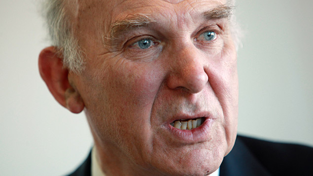 Business secretary Vince Cable. REX/Richard Gardner