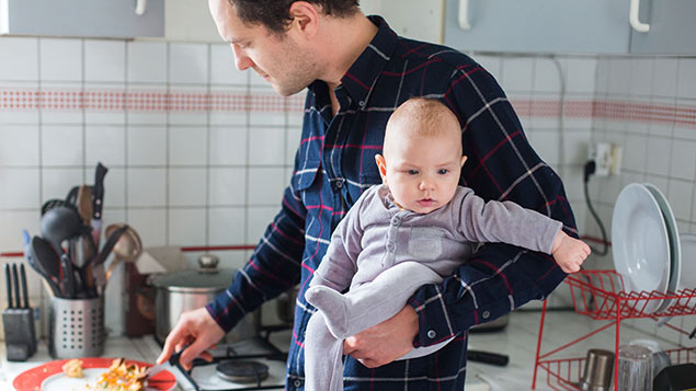 Enhanced shared parental pay could drive up the number of fathers taking leave. REX/Burger/Phanie