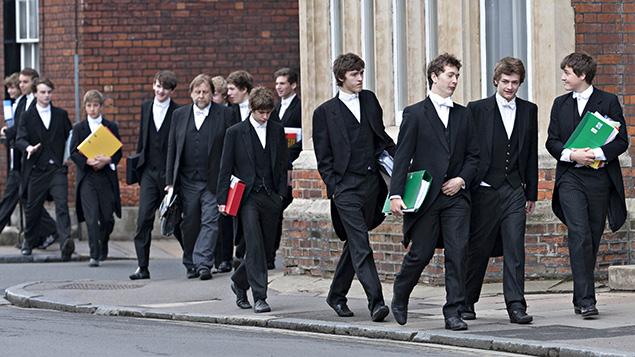 Only 7% go to independent schools such as Eton. Photo: REX/David Hartley