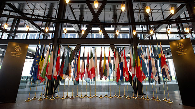 Inside the European Court of Justice, Luxembourg. REX/Geoff Pugh