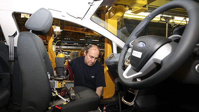 Ford's workforce in the relevant part of the business was 8.9% women in 2013. REX/Action Press