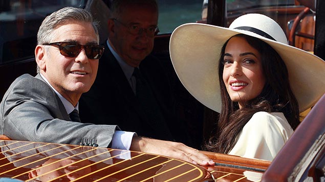 Affinity bias: George Clooney marries Amal Alamuddin. Photo: REX/Olycom