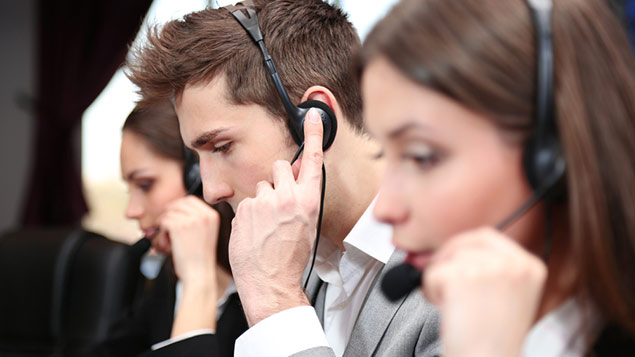 Employee assistance programmes - a call centre taking calls from employees