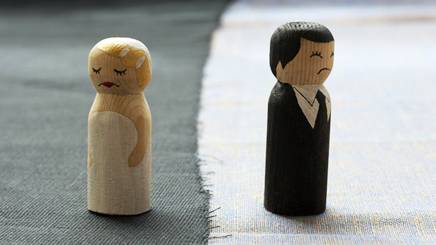 Separation and divorce rates peak in January