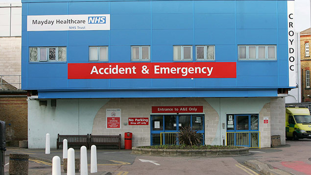 Croydon University Hospital, formerly Mayday Hospital. Photo: REX