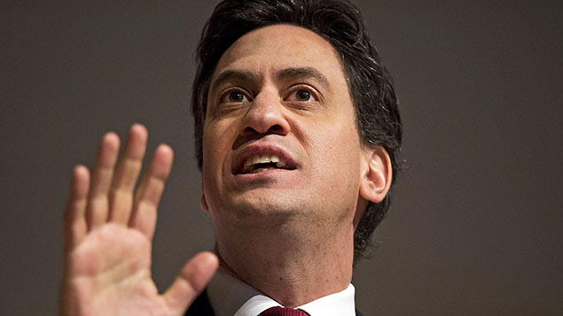 Ed Miliband plans to improve paternity leave and pay for new fathers. Photo: Ben Cawthra/REX