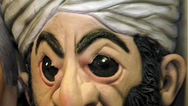 A Bin Laden mask similar to the one in question. Sipa Press/REX