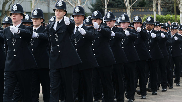New police officers 'passing out' last week, but when will they retire? Photo: Nils Jorgensen/REX