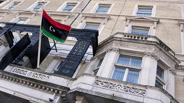The Libyan embassy in Knightsbridge, London. Photo: Jeff Blackler/REX