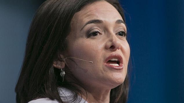 Facebook's chief operating officer Sheryl Sandberg. Photo: Zuma / REX