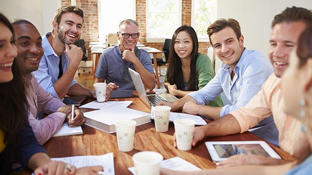 42% of employees felt their peers were the biggest influence on employee engagement levels. Photo: Monkey Business Images/REX Shutterstock