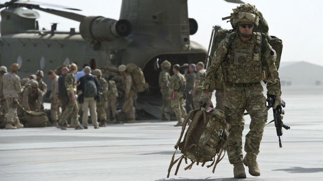 Final UK troops leave  Helmand Province, Afghanistan in October 2014. A resilience programme is helping the military battle stress while at war and after they return to civilian life. PHOTO: Corporal Andrew Morris/MOD/REX/Shutterstock