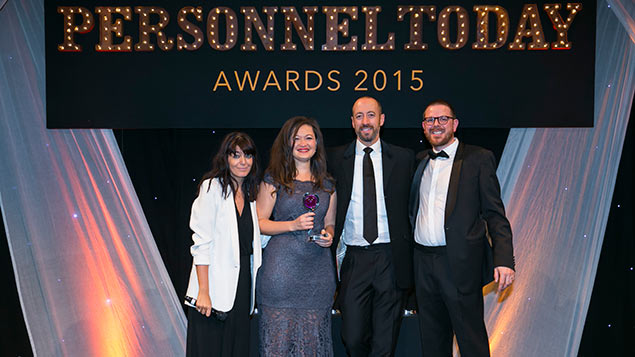 Stephanie Greenland from Sodexo receives the 2015 award for best HR newcomer