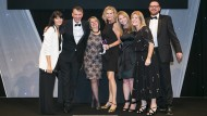The team from AdviserPlus collect the HR Supplier Partnership Award