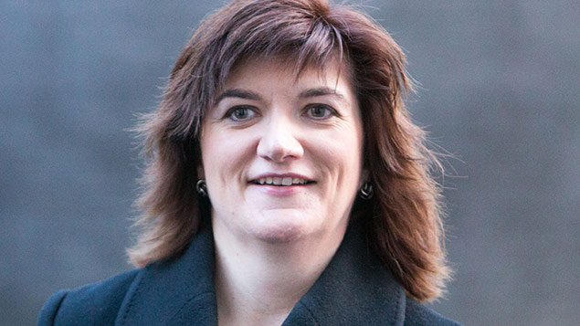 Nicky Morgan, minister for women and equalities. Photo: Mark Thomas/REX Shutterstock