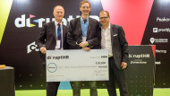 Arctic Shores managing director Robert Newry collects top prize at disruptHR