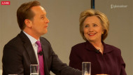 Glassdoor CEO Robert Hohman and Hillary Clinton