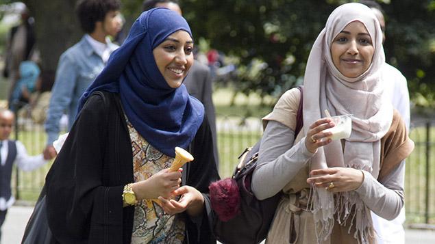 Muslim families celebrating Eid al-Fitr in London. Amer Ghazzal/REX/Shutterstock