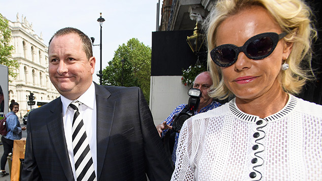 Sports Direct founder Mike Ashley and wife Linda arrive to give evidence last month. Photo: Ben Cawthra/REX/Shutterstock
