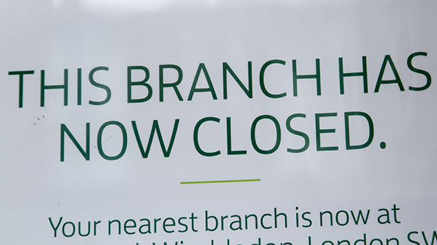 Lloyds Bank last month announced job cuts and branch closures amid Brexit fallout. Photo: Amer Ghazzal/REX/Shutterstock