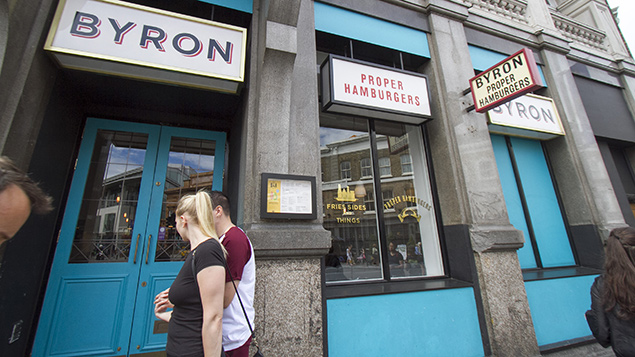 Immigration officers raided Byron restaurants last month, detaining 35 staff. Photo: Amer Ghazzal/REX/Shutterstock