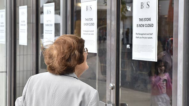 Wood Green BHS last month – one of the last stores of the retailer to be closed. Matthew Chattle/REX/Shutterstock
