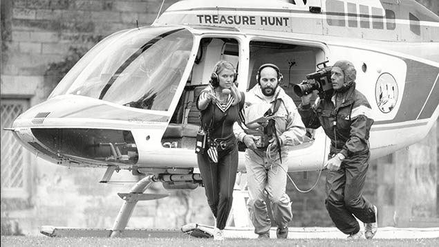 Anneka Rice in Channel 4's Treasure Hunt in 1988. Photo: Ian Parry / Associated Newspapers/REX/Shutterstock