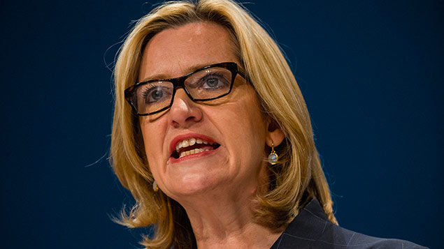 "Home secretary Amber Rudd: some firms ""get away with not training local people""James Gourley/REX/Shutterstock"