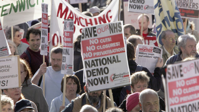 NHS occupational health services have been listed among potential cost saving areas.  Photofusion/REX/Shutterstock