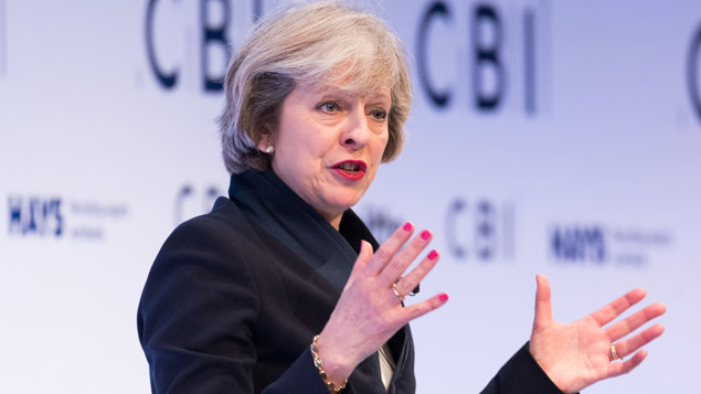 Theresa May gives her keynote speech at the CBI conferenceRay Tang/REX/Shutterstock