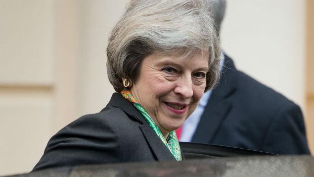 Prime MInister Theresa May arrives at the Royal Society in January to deliver a speech on mental health. REX/Shutterstock