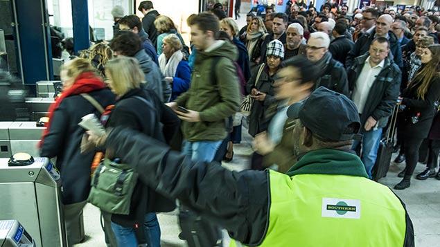 Southern station staff help commuters during an RMT strike last weekGuy Bell/REX/Shutterstock