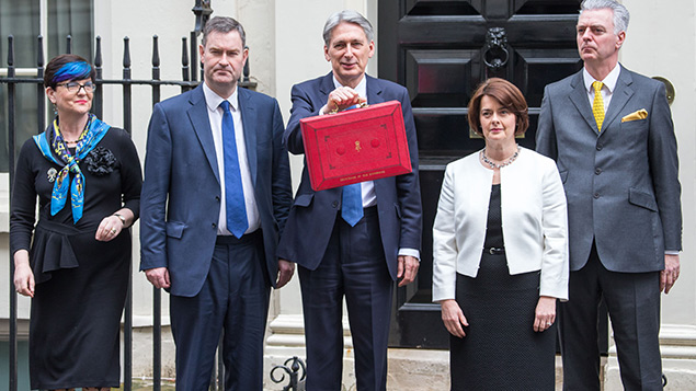 Philip Hammond and colleagues outside 11 Downing StreetJames Shaw/REX/Shutterstock
